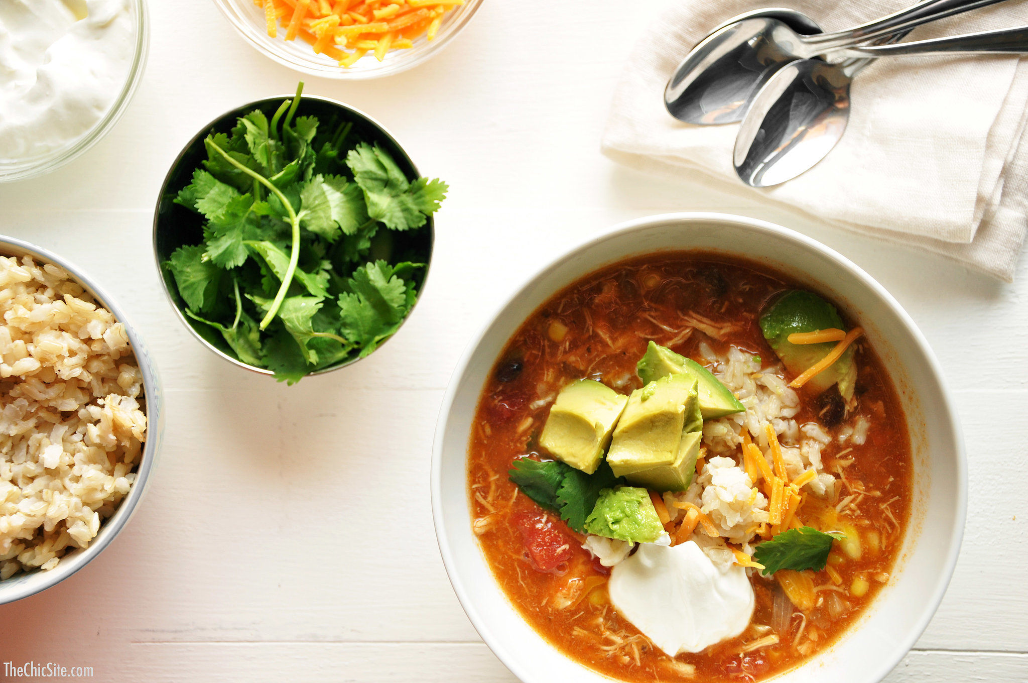 Green Chicken Enchilada Soup