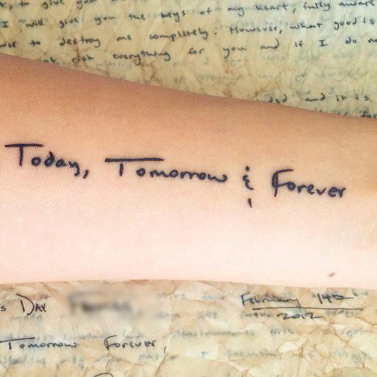 A Woman's Tattoo Honoring Her Late Husband