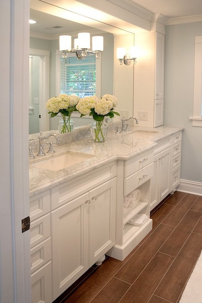 Popular home decor ideas on pinterest popsugar home for All white bathroom accessories