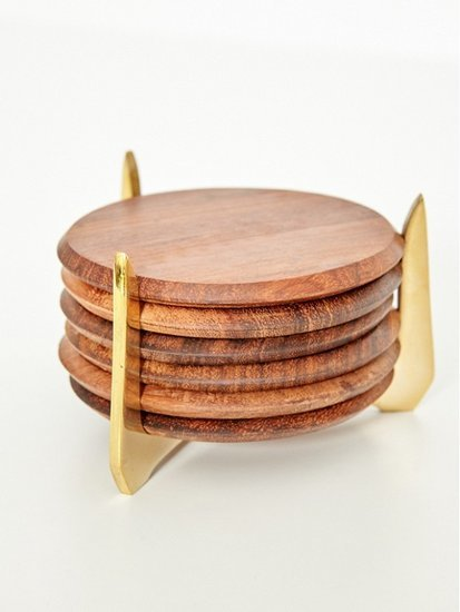 Rosewood Coasters Are an Entertainer's Must-Have