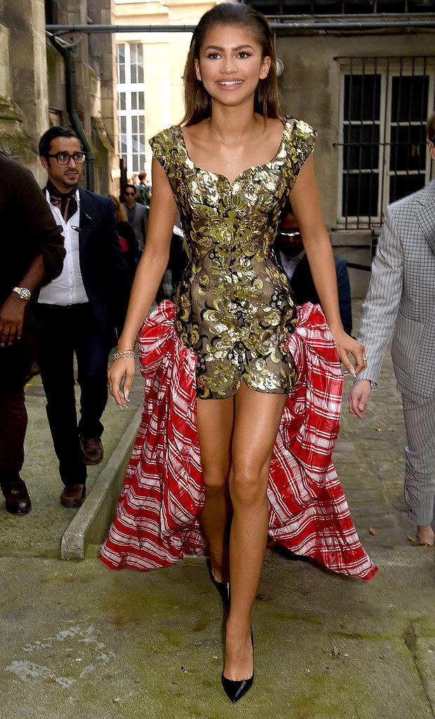 Zendaya At Paris Fashion Week 2015 Pictures Popsugar Celebrity