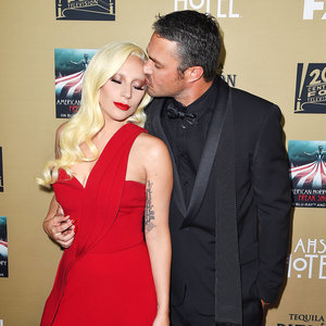 Lady Gaga and Fiance Taylor Kinney Share Serious PDA on American Horror Story: Hotel's Red Carpet: Photo