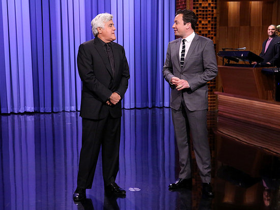 Jay Leno Surprises Jimmy Fallon by Taking Over Tonight Show Monologue