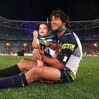 Johnathan Thurston & Daughter Frankie 2015 NRL Grand Final
