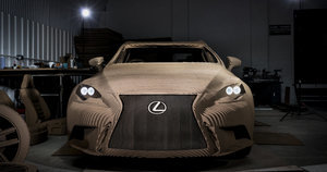 Lexus Made A Cardboard Car That Actually Drives