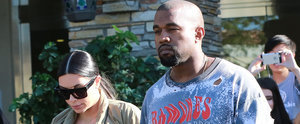 Kim Kardashian and Kanye West Catch a Movie Together in LA
