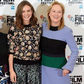 Carey Mulligan Meryl Streep Red Carpet October 2015