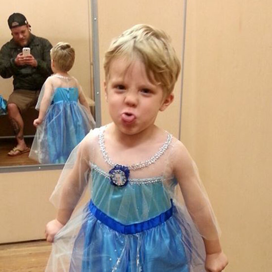 Dad Lets His Son Dress Up as a Princess