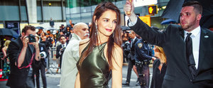 Katie Holmes Catching a Train in Couture Will Be the Best Thing You See All Day