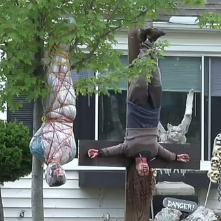 Graphic Halloween Decorations in Ohio