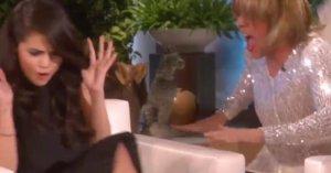 "Ellen DeGeneres Hilariously Scared Selena Gomez With ""Taylor Swift"""