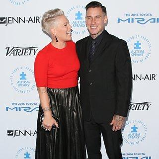 Pink and Carey Hart Red Carpet October 2015