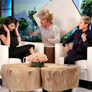Selena Gomez Gets Scared on Ellen October 2015