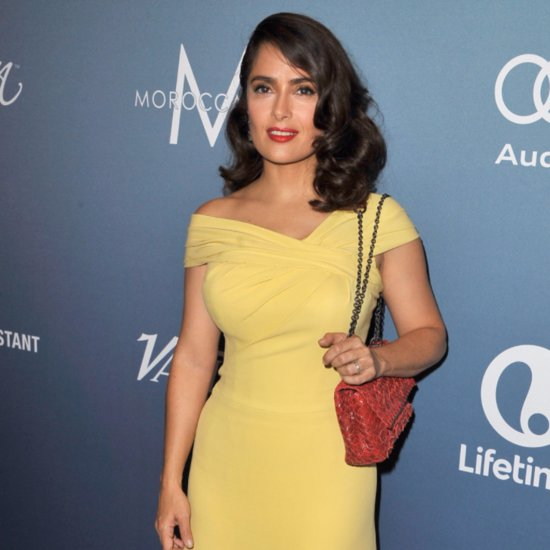 Salma Hayek in a Bright Yellow Dress at Variety's Luncheon