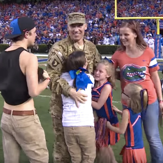 Military Family Surprised at Florida Gators Game