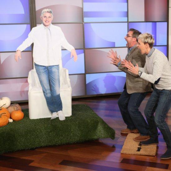 Steve Carell's Ellen DeGeneres Halloween Decoration