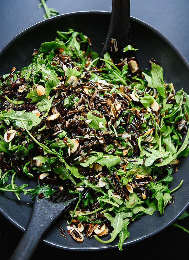 Arugula, Dried Cherry, and Wild Rice Salad With Lemony Dressing