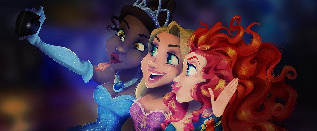 POPSUGAR Shout Out: Your Favorite Disney Princesses Take Selfies, Too