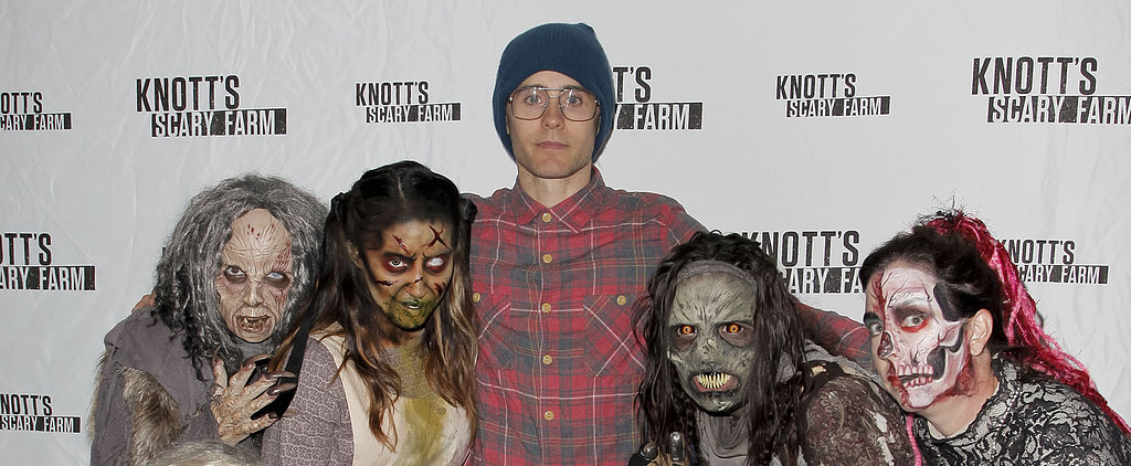 Jared Leto's Zombie-Filled Outing Will Totally Get You Into the Halloween Spirit