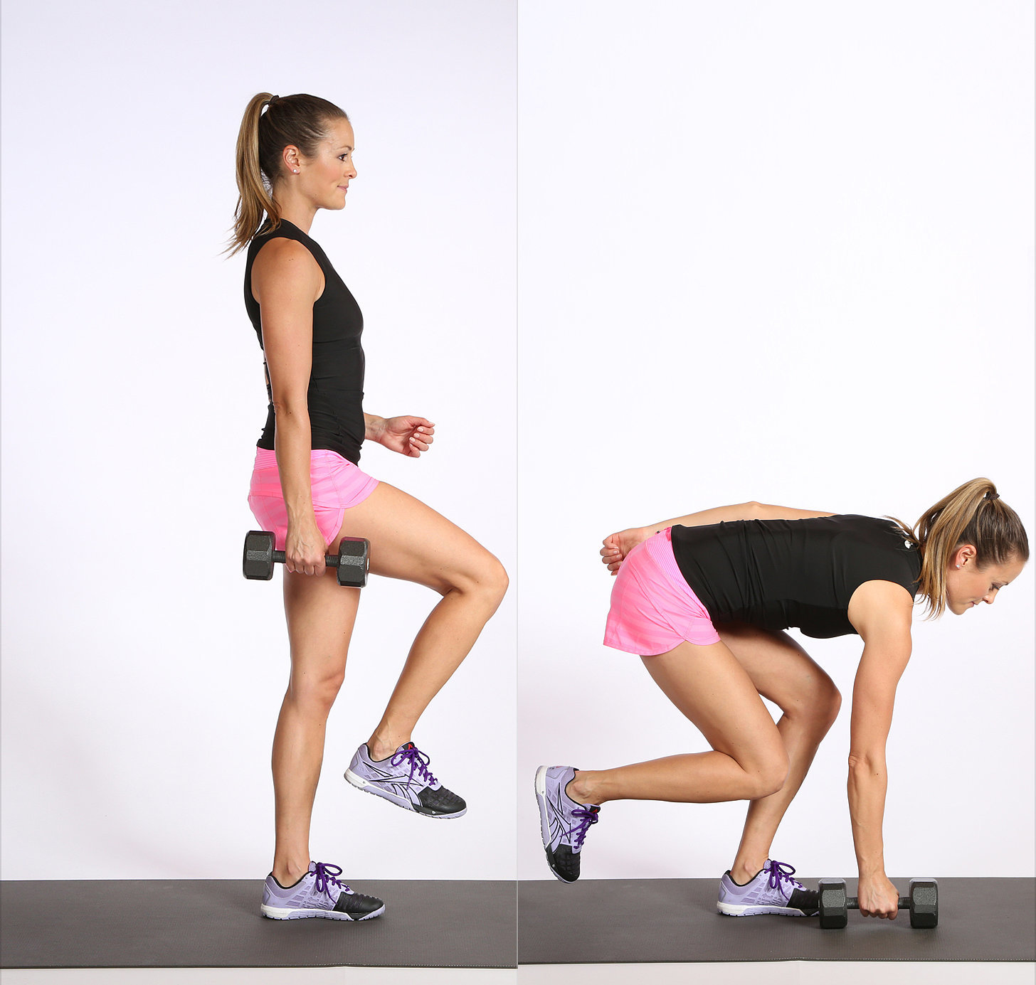 Single Leg Touch Exercise For Glutes Popsugar Fitness