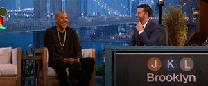 Jay Z Gets Super Embarrassed When Jimmy Kimmel Shows Him an Old Rapping Video