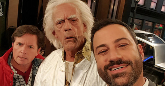 Marty McFly And Doc Brown Crash 'Jimmy Kimmel Live'