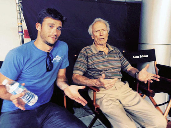 'Like Father Like Son': Clint and Scott Eastwood Hang out on Set of Sully