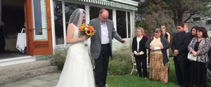 What This Dad Did to Walk His Daughter Down the Aisle Will Make You Weep