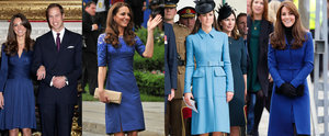A Royal Rhapsody in Blue: No Prizes For Guessing Kate's Favourite Colour