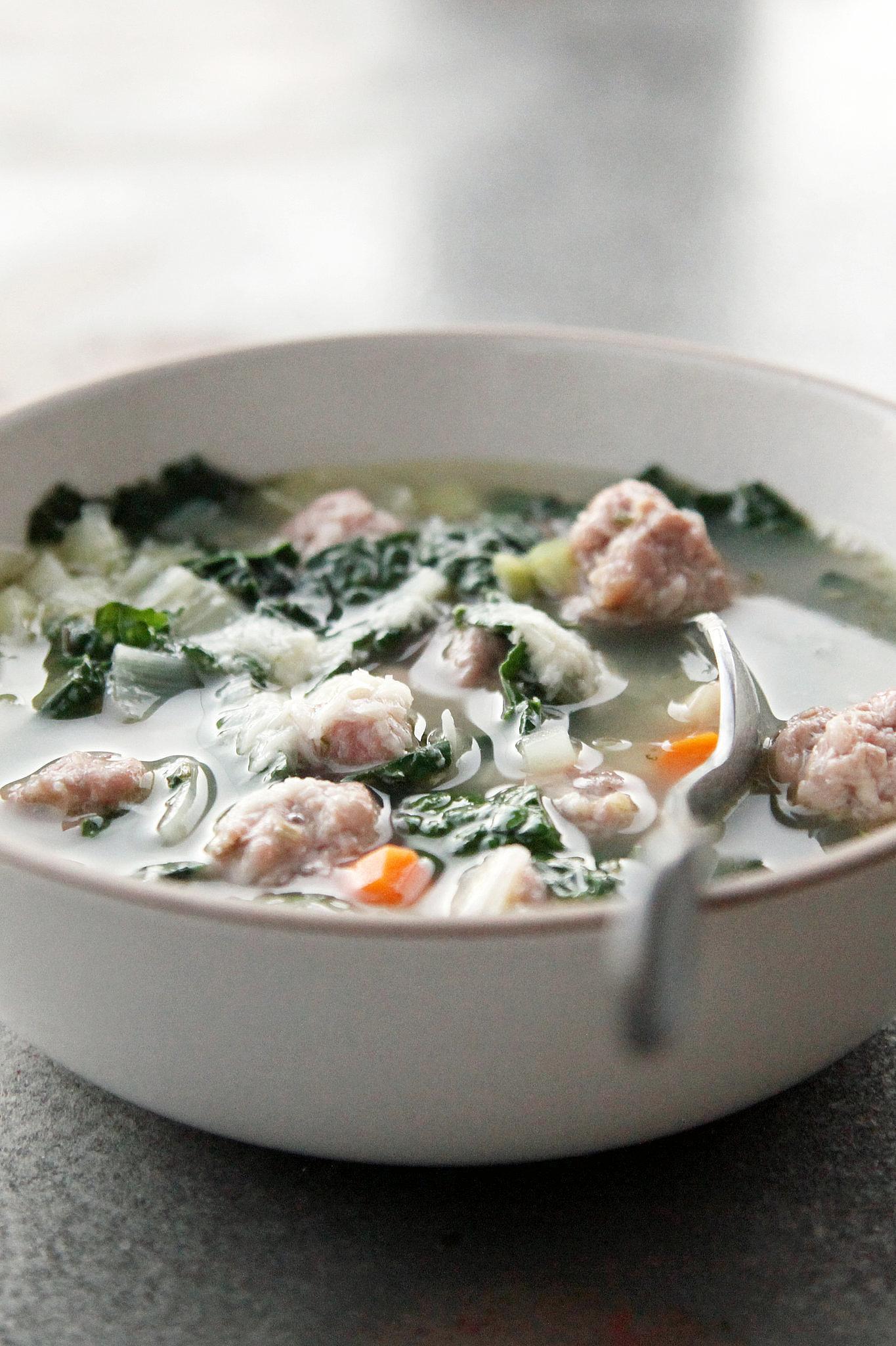 Italian Sausage, Kale, and White Bean Soup
