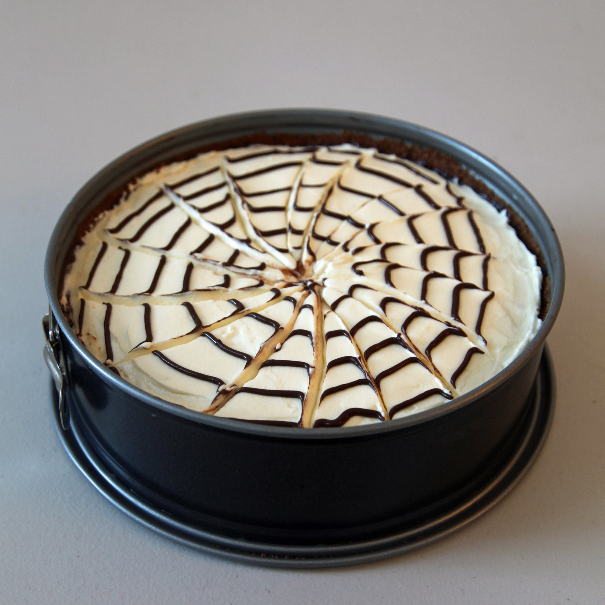 No-Bake Spiderweb Cheesecake | POPSUGAR Food