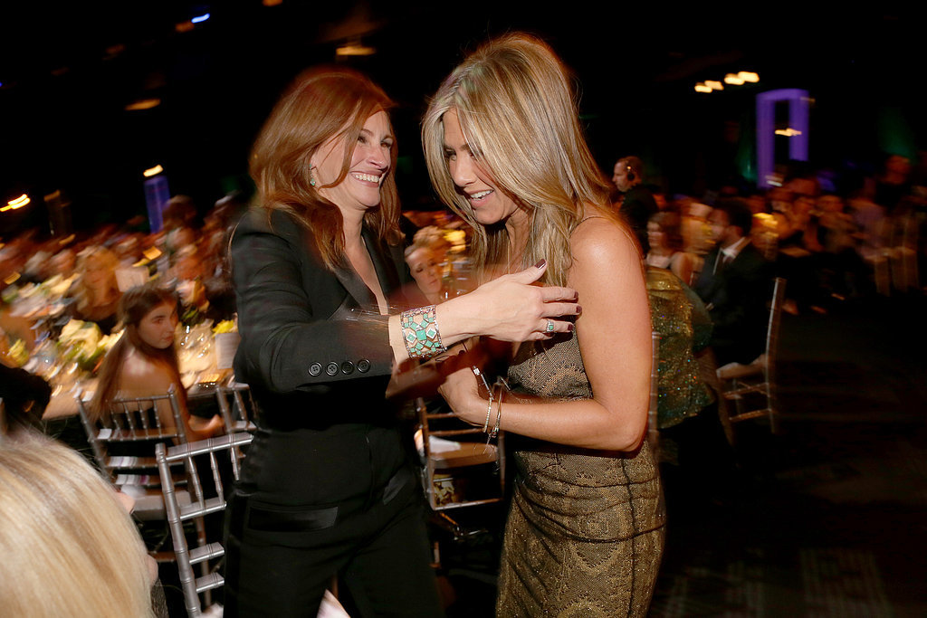 She and Jennifer Aniston cracked each other up at the SAG Awards in January 2015.