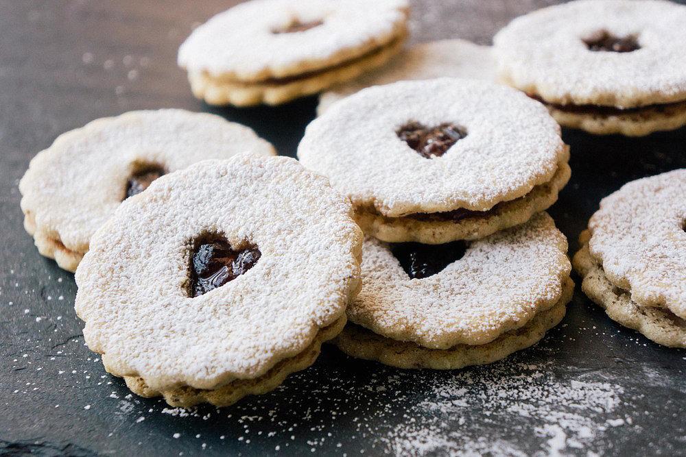 Gluten-Free Hazelnut Linzer Cookies