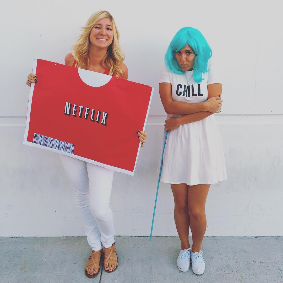 Netflix and Chill | See This Yearu0026#39;s Most Creative DIY Halloween Costumes! | POPSUGAR Smart Living