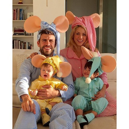 Shakira and Gerard Piqué as Topo Gigio Halloween 2015