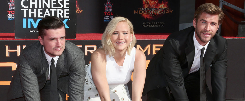 Jennifer Lawrence, Liam Hemsworth and Josh Hutcherson Leave Their Stamp on Hollywood