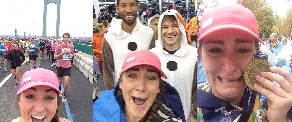 9 Selfies With Hot Guys Later, This Woman Sets a Personal Record at the NYC Marathon