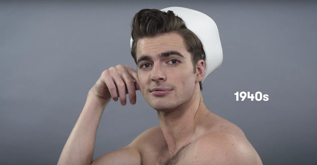 This Video of 100 Years of Men's Grooming Transformations Will Make You Blush