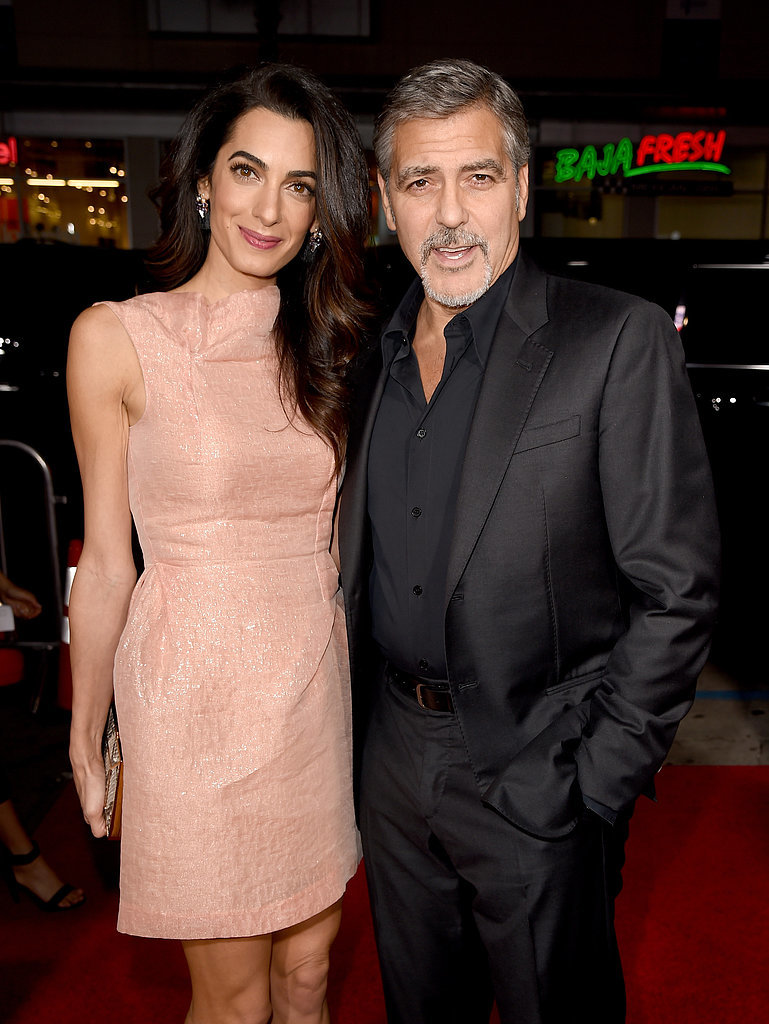 George and Amal exuded love on the red carpet at the LA premiere of his new film Our Brand Is Crisis in October 2015.