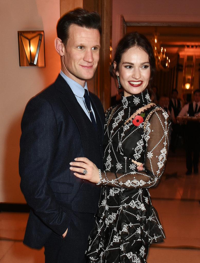 Matt Smith and Lily James Celebrity Couple Photos