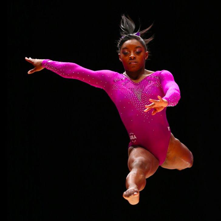 Gymnast Simone Biles Floor Routine Popsugar Fitness