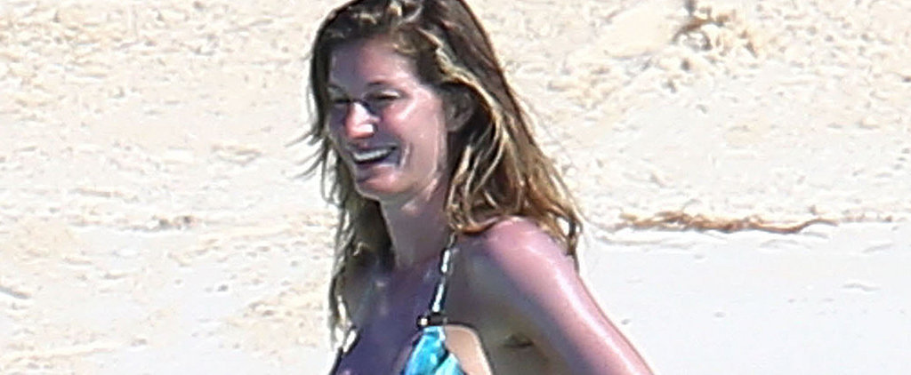 Gisele Shows Off Her Curvier Figure in a Tiny Printed Bikini
