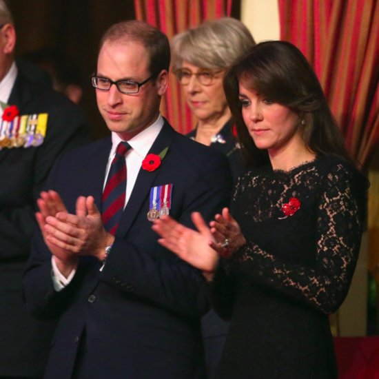 Prince William and Kate Middleton on Remembrance Day 2015