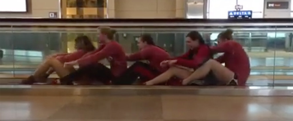 This Collegiate Swim and Dive Team Came Up With the Best Way to Beat Airport Boredom