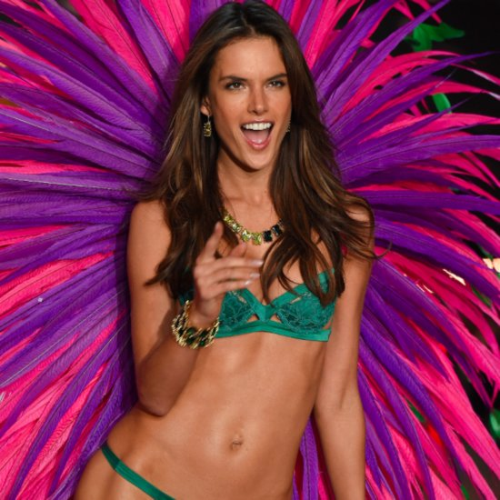 Alessandra Ambrosio Flirtiest Looks at the 2015 VS Show