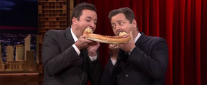 Nick Offerman Channels Ron Swanson While Telling Jimmy Fallon How to Eat Meat