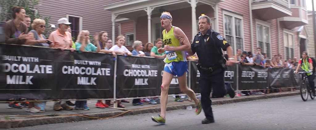 After Falling 200 Yards From the Finish Line, He Almost Gave Up, But Then a Cop Did This