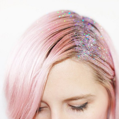 Glitter Roots Hair Trend