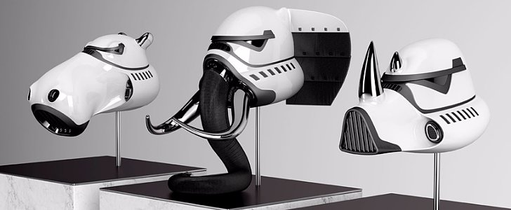 An Artist Designed Stormtrooper Helmets For Animals and They're So Cool