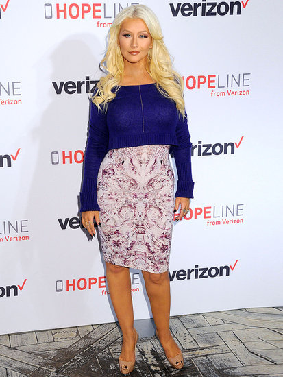 Christina Aguilera Stuns in Alexander McQueen at Domestic Violence Awareness Event
